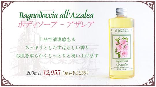 ボディソープ-アザレア・上品で清潔感あるスッキリとしたすばらしい香り